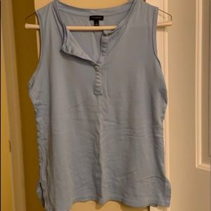 Light blue Talbots collared blouse
